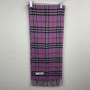 Royal Rossi Purple Plaid Cashmere Scarf